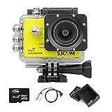 SJCAM SJ5000X WIFI Elite Edition Action Sport Cam Camera Waterproof Videocamera Fotocamera digitale Helmetcam(4K video @24FPS,Gyro Anti-Shake Stabilizzatore,Novatek 96660,2.0 inch LCD,12 Megapixel,Impermeabile 30 Metri)con 2 Batteria ricaricabile+Batteria Charger+32GB Micro SD card+AV to USB cable-Giallo