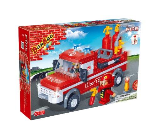 BanBao Fire Engine Toy Building Set, 158-Piece - 1