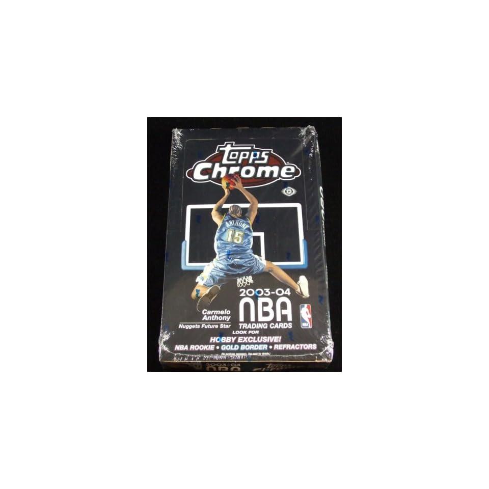 2003 04 Topps Chrome Basketball Unopened Hobby Box