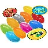 Crayola Silly Putty Gift Set - 10 Pack Bundle Original Metallic Changeable Glow