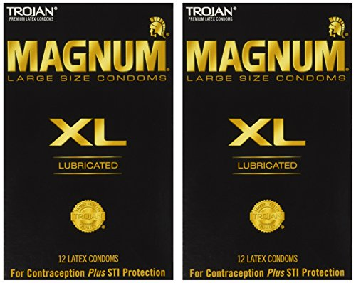 Trojan Magnum Xl Lubricated Condoms 12 Ct (Pack of 2)