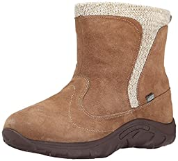 Merrell Jungle Moc Waterproof Cold Weather Boot (Little Kid/Big Kid), Taupe, 2 M US Little Kid