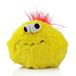 Color You Squeaky Plush Chicken Dog Toy Bouncing Ball Electronic Jumping Interactive Doggie Cat Toys for Boredom, 5 inches, Yellow