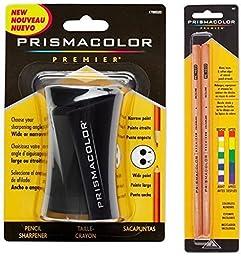 Prismacolor Blender Pencil Colorless (2 Piece) & Premier Pencil Sharpener