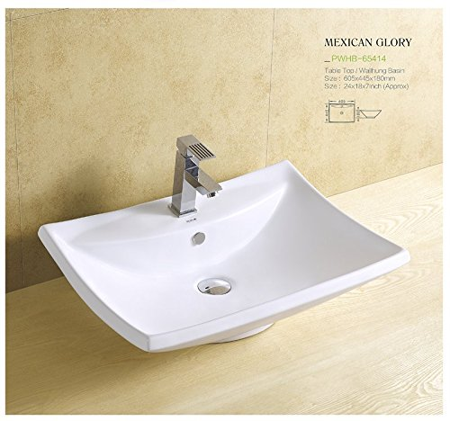 Plano Ceramic Wash Basin Tabletop / Wall Mount Mexican Glory