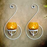 Tiedribbons® Wall Hanging Candle Holder /Wall Sconce Holder Pack Of 2(Metal)