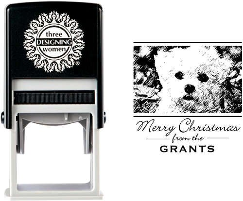 Three Designing Women Custom Self-Inking Photo Stamp