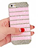iPhone6 / 6s ブロック ラインストーン ハードケース クリスタル ピンク (iPhone6 4.7インチ用, ピンク)