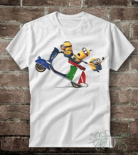 T-shirt uomo-vespa minions