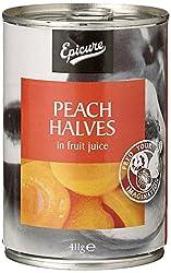 Epicure Peach Halves in Fruit Juice, 411g