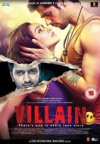 Ek Villain DVD - 2014 Hindi Movie DVD / Sidharth Malhotra / Riteish Deshmukh / Shraddha Kapoor (Best Super Villains)