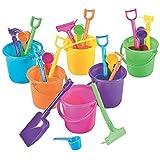 OTC - 12 Sand Beach Play Sets, 3.25in Bucket w/Rake, Scoop and Shovel