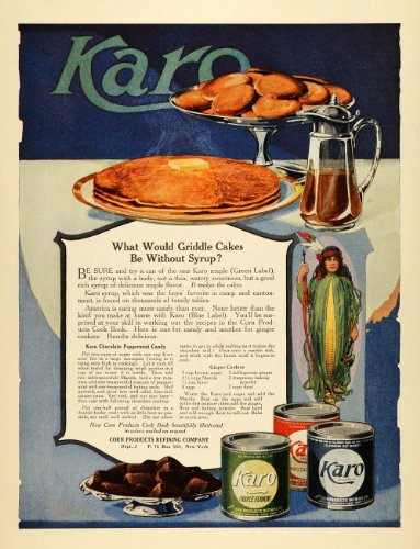 1919-ad-karo-corn-chocolate-peppermint-candy-recipe-ginger-cookies-pancake-syrup-original-print-ad