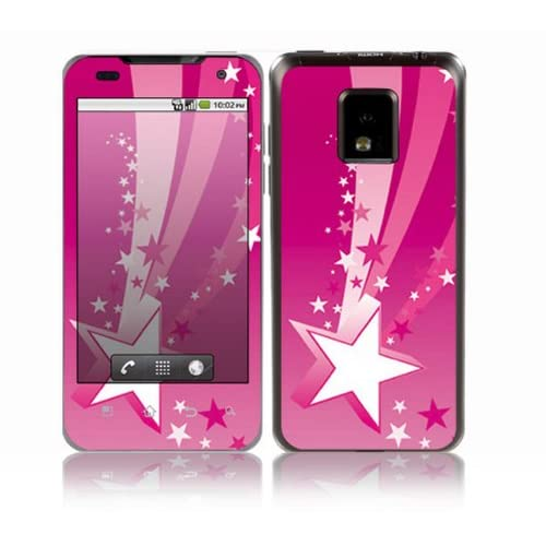 Pink Stars Design Decorative Skin Cover Decal Sticker for LG T mobile G2x P999 Cell Phone