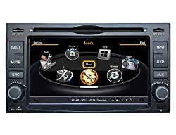 See SDB Car DVD Player With GPS Navigation(free Map) For Kia old universal Rio Cerato Audio Video Stereo System with Bluetooth Hands Free, USB/SD, AUX Input, Radio(AM/FM), TV, Plug & Play Installation Details