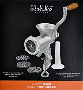 Il Mulino New York Cast Iron Mincer with 3 Different Mincing Discs