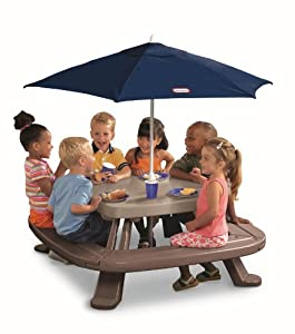 Endless Adventures Fold 'n Store Picnic Table with Market Umbrella by Little Tikes