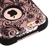 """Product B017Y9PF6I - Product title Apple iPhone 6 / 6S (4.7"""") Case, Kaleidio [Mybat TUFF] Impact Protective Dual Layer Hybrid Cover [Includes a Overbrawn Prying Tool & Stylux Stylus] [Rose Gold Clover Flowers]"""