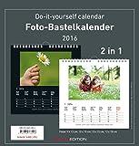 Foto-Bastelkalender 2016 - 2 in 1: schwarz und weiss - Bastelkalender: Do it yourself calendar (21 x 22) - datiert - Valentinstag-Kalender