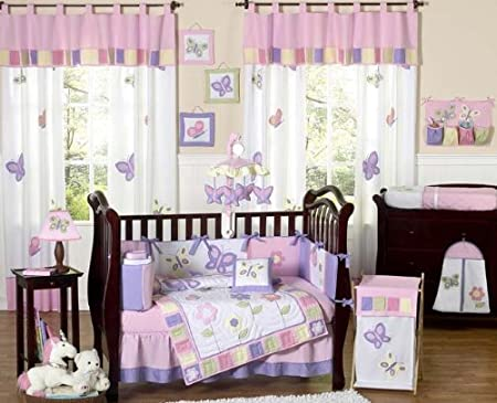 purple butterfly bedding