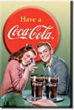 Coca Cola Young Couple fridge magnet