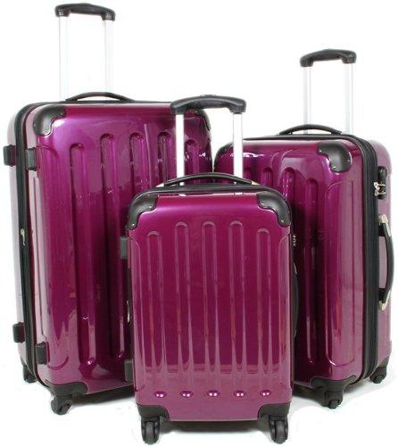 BEIBYE LILA 3 tlg. Reisekofferset (XL/L/Boardcase)