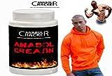 Anabol Creatin, 500g Creatin Monohydrat Pulver + Sport Pullover, Orange mit Kaputze
