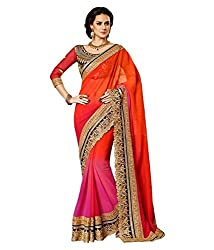 My online Shoppy Georgette Saree (My online Shoppy_83_Multi-Coloured)