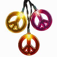 Kurt Adler 10-Light Multicolored Peace Sign Light Set from Kurt S. Adler Inc.