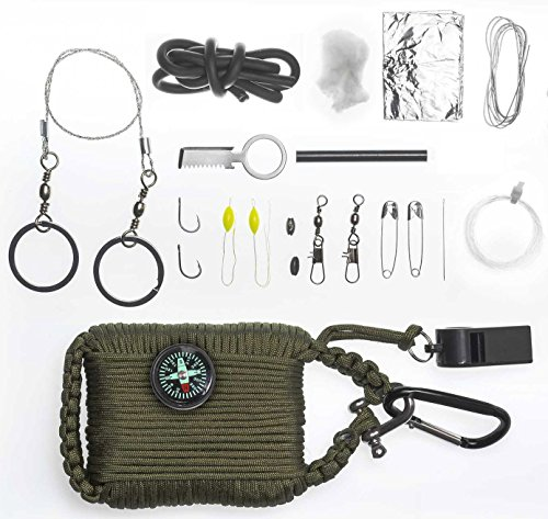 A2S-Survival-Gear-Paracord-30pcs-Emergency-Kit-First-Aid-Kit-Emergency-Food-finding-Fishing-Gear-Baits-Compass-Emergency-Whistle-Fire-Starter-set-Survival-Knife-more