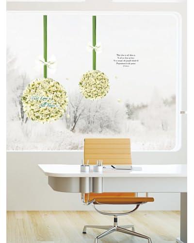 Ambiance Live Vinilo Decorativo Love in flowers balls Multicolor