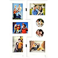 Priya Collections Glass 7-in-1 Collage Photo Frame With Frame (48 Cm X 30 Cm X 3 Cm, White)