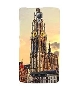 VINTAGE CLOCK TOWER MONUMENT IN EVENING 3D Hard Polycarbonate Designer Back Case Cover for Lenovo A2010