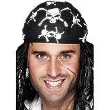 Smiffy's - Kopftuch Pirat Totenschädel Piratenkopftuch Seeräuber