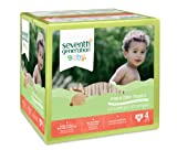 Seventh Generation Free & Clear Diapers, Size 4,  54 Count