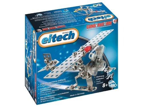 Eitech Construction Metal Building Kit, Makes Helicopter or Airplane,