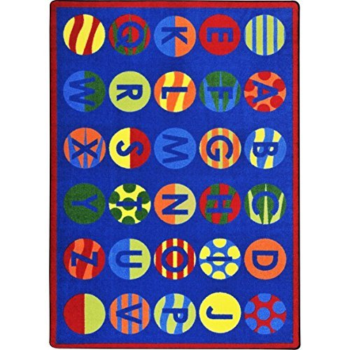 "Joy Carpets Kid Essentials Early Childhood Alphabet Patterns Rug, Multicolored, 10'9"" x 13'2"""