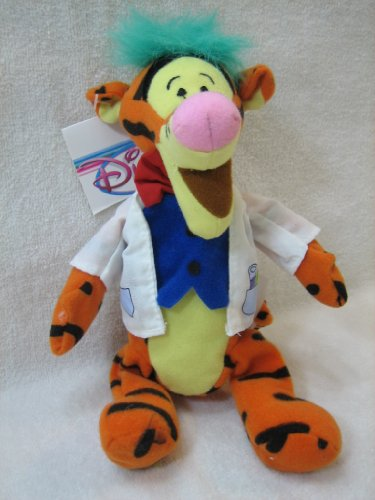 "Disney Mini Bean Bag Mad Scientist Tigger 9"" Plush"