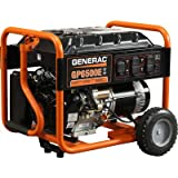 Generac 5941 GP6500E 6,500 Watt 389cc OHV Portable Gas Powered Generator with Electric Start