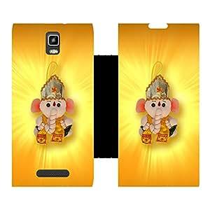 Phone Candy Designer Flip Cover with hi-res printed Vinyl sticker wrap-around for Lava Iris Fuel 50