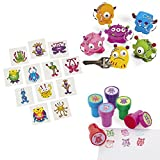 Lustige Monster Mitgebsel Set Schlüsselanhänger Kinderstempel und Tattoos 48 Teile von cama24com