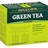 Bigelow Classic Green Tea Bags, 40-Count Boxes (Pack of 6), Green Tea Bags, All Natural, Gluten Free, Rich in Antioxidants (Tamaño: Pack of 6)