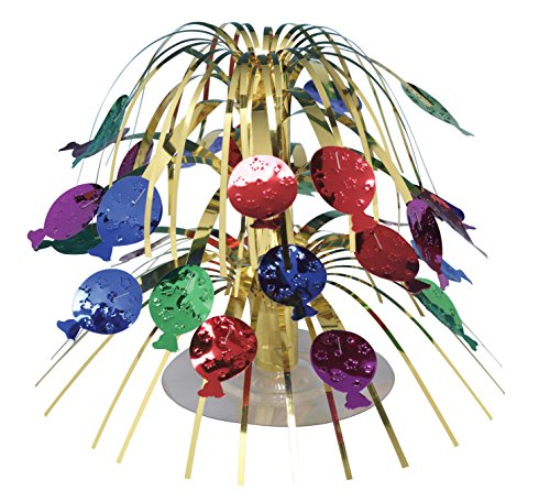 Creative Converting 261015 Balloons Mini Cascade Table Centerpiece, Multicolor