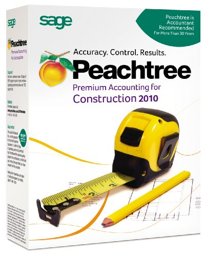Peachtree Premium Accounting for Construction 2009 - Sage Software - SS-VERCON2010RT - ISBN:B00286F52M