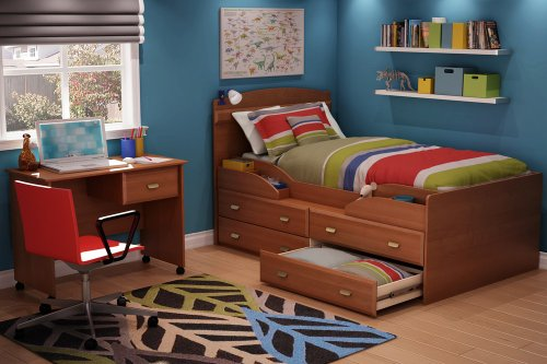 Cheap Twin Size Kids Bedroom Furniture Set 72 in Morgan Cherry – Imagine – South Shore Furniture – 3576-BSET-72 (3576-BSET-72)