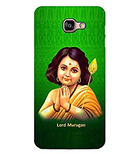 Fuson Premium Lord Murugan Metal Printed with Hard Plastic Back Case Cover for Samsung Galaxy A9