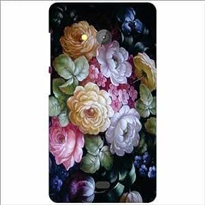 Microsoft Lumia 540 Dual SIM Back Cover - Bunch Of Flowers Designer Cases