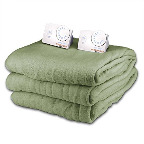 Great Features Of Soft Microplush King Size Electric Heated Blanket by Biddeford (Seafoam Green)