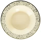 Lace Ivory/Gold 12Oz Disposable Plastic Bowls, 10 Count