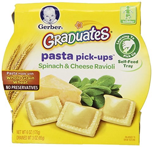 Gerber Graduates Pasta Pick-Ups Spinach and Cheese Ravioli, 6 Ounce (Gerber Pasta Pickups compare prices)
